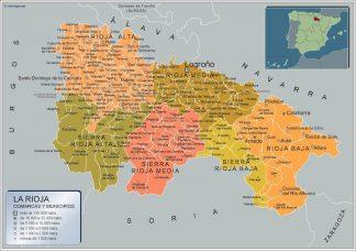 Gemeenten La Rioja Kaart Van Spanje Kaarten Voor Nederland Netmaps Nl